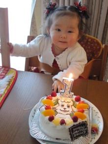 1歳誕生日、ワンワンのケーキ