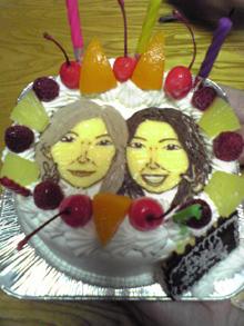 2人 似顔絵 ケーキ