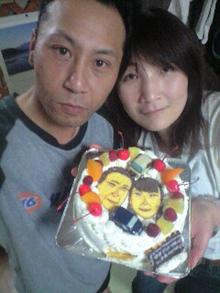 カップル 似顔絵 ケーキ