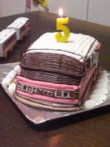 名鉄パノラマスーパー、電車の立体ケーキ