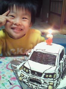 三菱デリカ、車の立体ケーキ