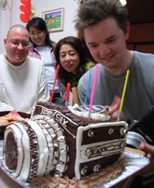 カメラの立体ケーキ