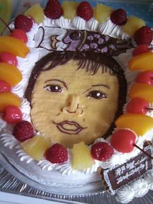 こいのぼり、似顔絵ケーキ