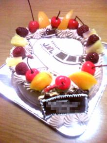 JALの飛行機イラストケーキ