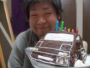 ロードスター、車の立体ケーキ
