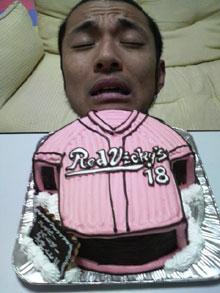 ユニフォームの立体ケーキ