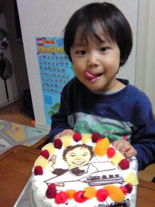 新幹線のイラストケーキ