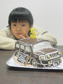 ハマー、車の立体ケーキ