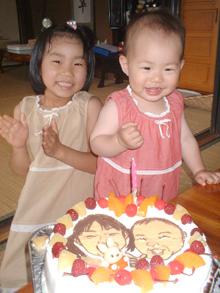 豆乳クリームの似顔絵ケーキ