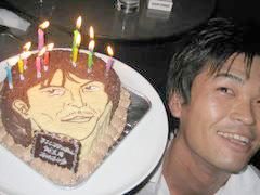 顔型立体、似顔絵ケーキ