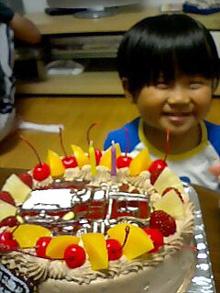 消防車のイラストケーキ
