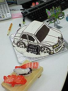 セドリック、車の立体ケーキ