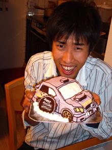 インプレッサ、車の立体ケーキ