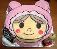 アカチャンマンの顔型 立体ケーキ