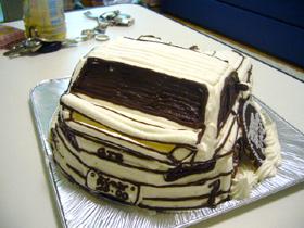 ポルシェ、車の立体ケーキ