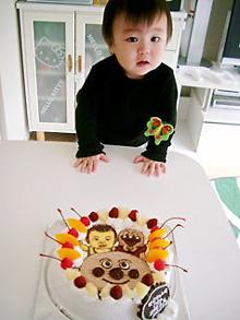 アンパンマン号のケーキ