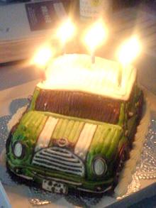 クーパー、車の立体ケーキ