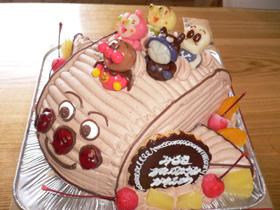 アンパンマン号の立体ケーキ