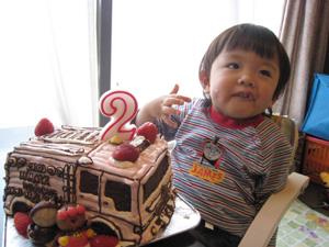 消防車、レスキュー車の立体ケーキ