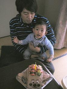 アンパンマン号、マスコット付き キャラクター 立体ケーキ