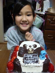 バンダの立体ケーキ