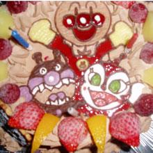 アンパンマン、ばいきんまん、ドキンちゃんのキャラクターケーキ