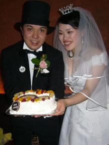 ウエディング、似顔絵ケーキ