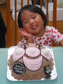 キャラクター ケーキ 顔型立体 マスコット付