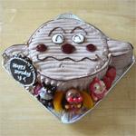 カレーぱんマンの顔型 立体ケーキ