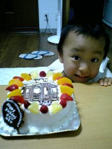 阪急電鉄の電車のイラストケーキ