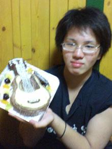 ギターの立体ケーキ