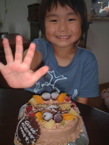 ヘラクレスオオカブトのケーキ