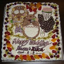 オリジナル ウェディングケーキ キャラクター