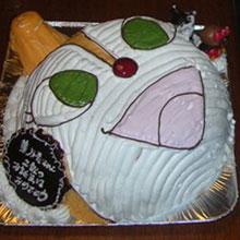 ドキンちゃんの顔型 立体ケーキ