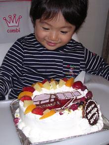 電車のイラストケーキ