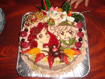 アリエル、マリーちゃん&チビキング、クリスマスケーキ