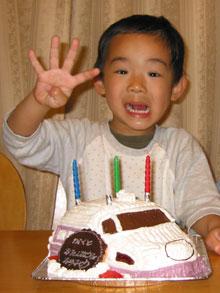 100系新幹線の立体ケーキ