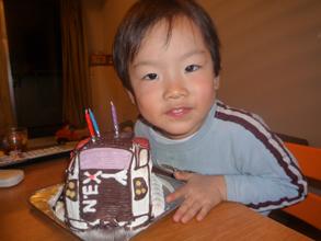 成田エクスプレスE259系電車の立体ケーキ