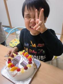 500系新幹線のイラストケーキ