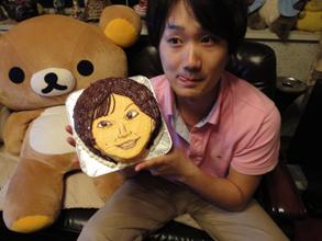 似顔絵、顔型立体ケーキ