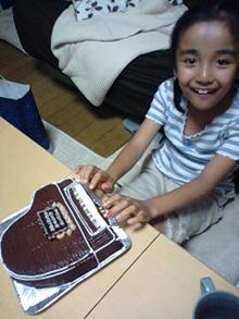 ピアノの立体ケーキ