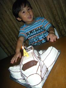 飛行機の立体ケーキ
