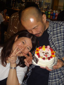 愛犬の似顔絵ケーキ