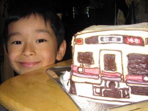 京王線の6000系 特急 新宿系、電車の立体ケーキ