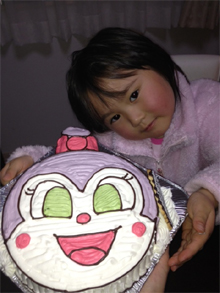 キャラクター 顔型 立体 ケーキ