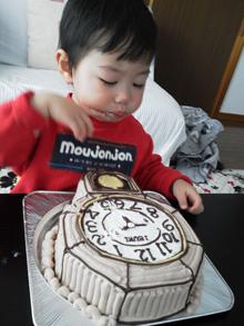 オリジナル 時計 立体 ケーキ