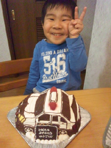 パトカー 乗物立体 ケーキ