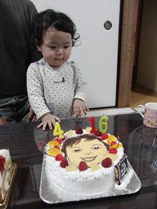 似顔絵 ケーキ 1歳