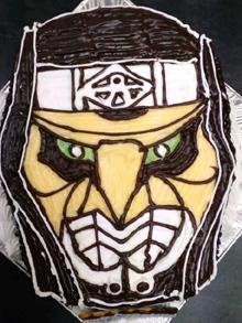 デネブ顔型 立体 ケーキ
