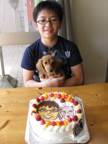 ペット 似顔絵 カップル ケーキ